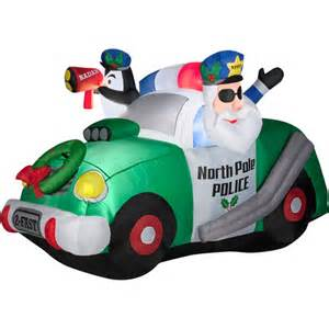 North pole police airblown inflatable christmas prop walmart com