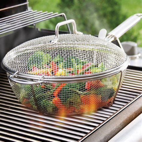backyard grill 5a maverick mesh grilling chef s pan and lid grilling