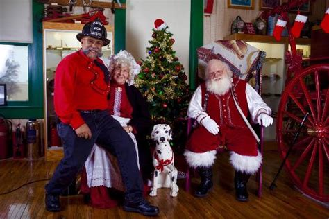 this christmas santa and mrs claus came for a visit they