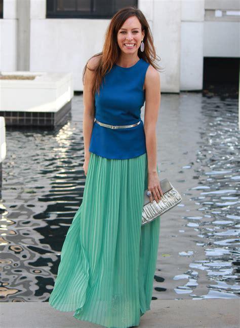 zara peplum top pleated maxi skirt forever 21 mnt blue