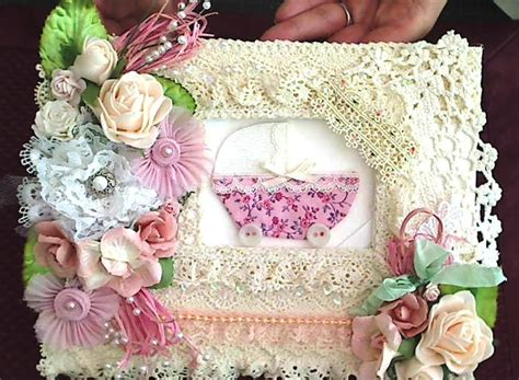 shabby chic baby shower guest book craftypaws