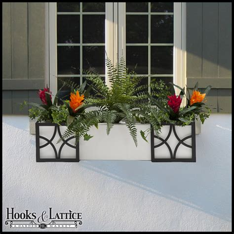 artificial window box plants artificial tropical flowers for 60 quot window box bromeliad
