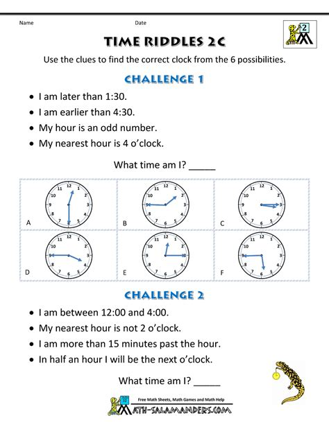 printable math riddles worksheets printable time worksheets time riddles easier