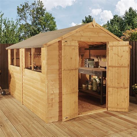 waltons overlap apex wooden shed waltons sheds
