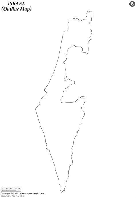 blank map  israel israel outline map