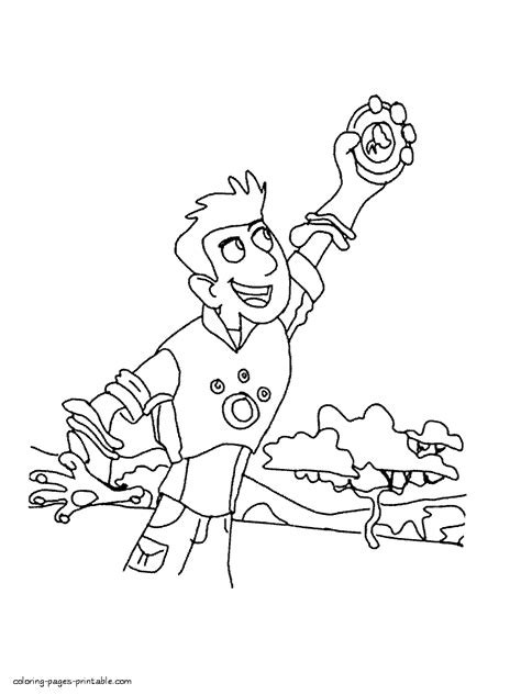 printable coloring pages wild kratts chris kratt coloring page
