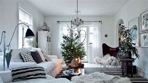christmas home interiors white scandinavian home decorated for christmas denmark