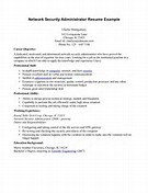 Network Security Administrator Resume