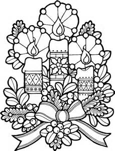 Christmas candles coloring pages 1 purple kitty