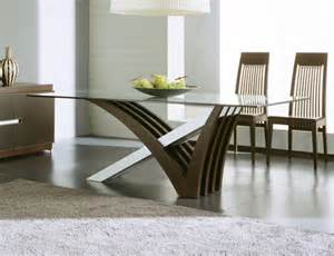 Contemporary and modern dining tables wooden chair glass top best