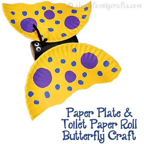 Butterfly Paper Plate Craft - 51 toilet paper roll crafts do small things with