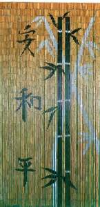 Bamboo painted beaded door curtain bamboo and chinese characters on