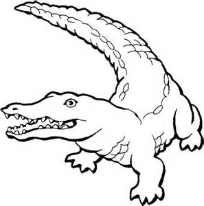 Crocodile Coloring Books Printable For Learning Kids sketch template