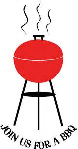Barbecue invitation clip art with the text
