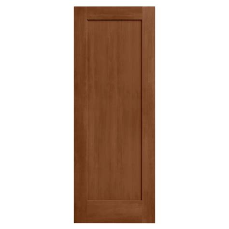 Composite Interior Doors Jeld Wen 24 In X 80 In Stained Hazelnut 1 Panel Solid Composite Interior Door Slab