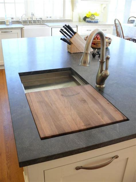 kitchen island cutting board prep sink on island with a built in cutting board this is