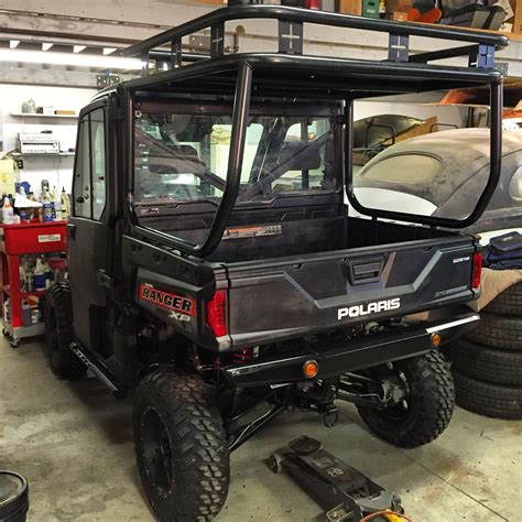 utv roll cage size roll cage roof and safari rack installed on a polaris