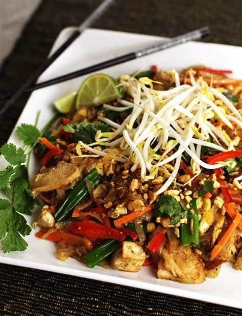 chicken pad thai recipe dishmaps