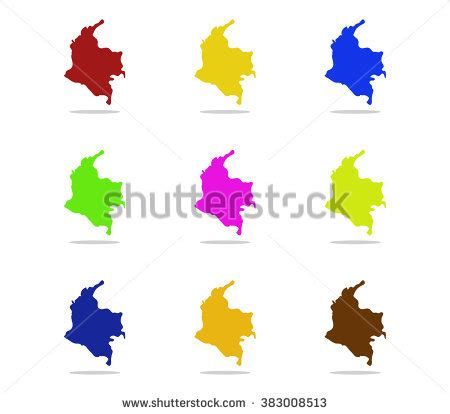 colombia vector map colombia map stock photos images pictures