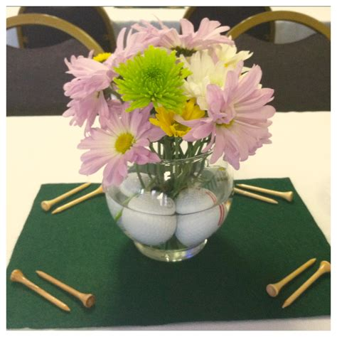 Golf Themed Centerpieces For My Father In Law S Retirement Golf Centerpieces Ideas