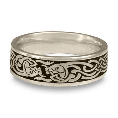 celtic hunt wedding ring in platinum by celtic jewelry
