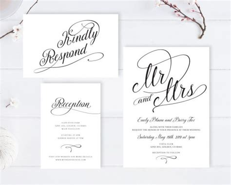 heather invite wedding invitations with rsvp cards postcard by