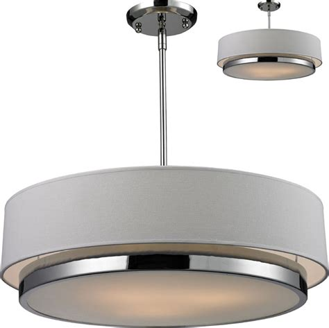 Drum Lighting For Ceilings Z Lite 186 22 Jade Chrome 22 Quot Wide Drum Ceiling Light Pendant Flush Mount Zlt 186 22