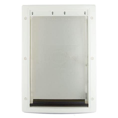 petsafe 13 5 8 in x 23 in x large white plastic pet door