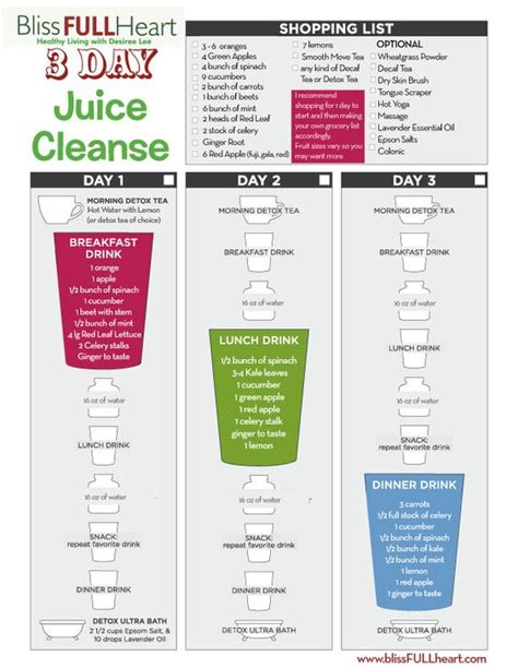 5 Day Juice Detox Shopping List by Free Post Tday 3 Day Juice Cleanse A Well 3 Day
