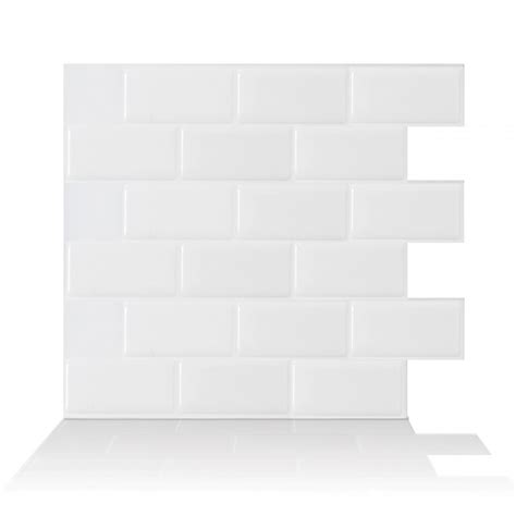 subway white peel and stick tile backsplash online