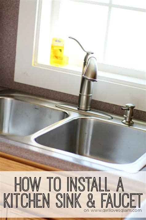 how to install faucet in kitchen sink how to install a kitchen sink and faucet glam
