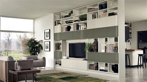 Kitchen Partition Wall Designs 12 Dynamic Living Room Compositions With Versatile Wall Unit Systems