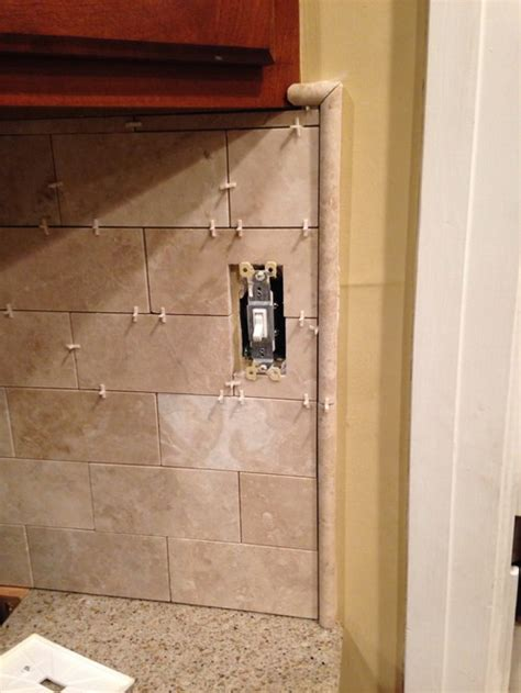 how to install a pencil tile backsplash and what it costs the backsplash pencil molding issue