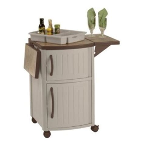 Outdoor Storage Cabinet On Wheels by Outdoor Prep Station For Patio Barbeque Grilling Storage