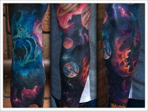galaxy sleeve tattoo best galaxy tattoos trend fashion wear the universe on