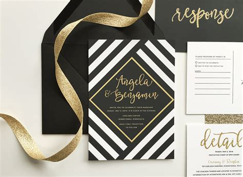 Wedding Invitations Black And Gold by Black And Gold Wedding Invitations Www Imgkid The