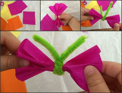 fiori di carta bambini oltre 25 fantastiche idee su lavoretti di carta crespa su
