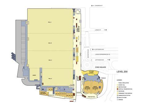 cobo hall floor plan floor plans cobo center detroit michigan