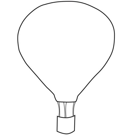 air balloon template printable air ballon coloring pages ballon d or