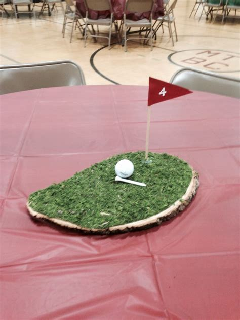 s day table centerpieces golf themed centerpiece idea for a s day table