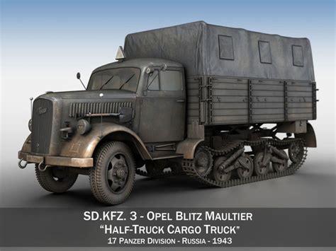 opel blitz maultier opel blitz maultier half truck cargo truck 17 3d model