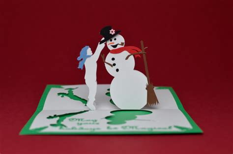 snowman card template 30 pop up cards hative