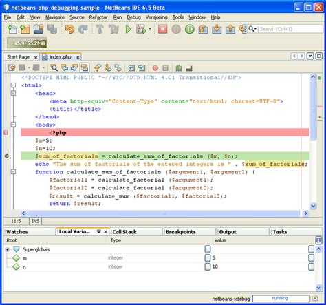 netbeans tutorial debugger debugging php source code in the netbeans ide for php editor