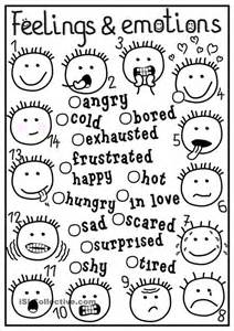 feelings coloring pages feelings and emotions matching feelings emotions