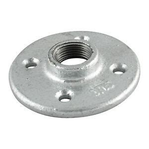 galvanized malleable iron floor flange fitting pipe npt ebay