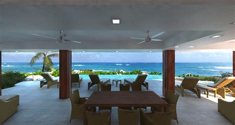 home design concept with beach background photo 180 degree panoramic ocean views in the new open plan