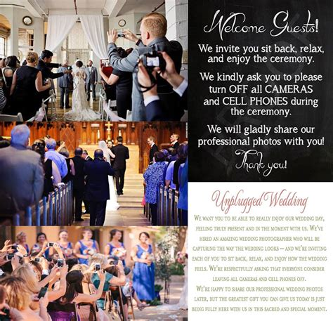 Unplugged Wedding Announcement by Is Your Wedding Unplugged Lovejoy Photography