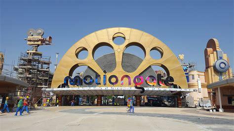 theme park entrance amazing photos of a nearly complete motiongate dubai theme