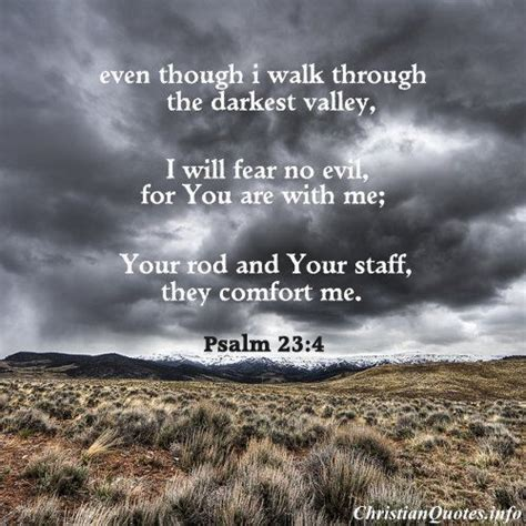 your rod and your staff comfort me even though i walk through the darkest valley i will