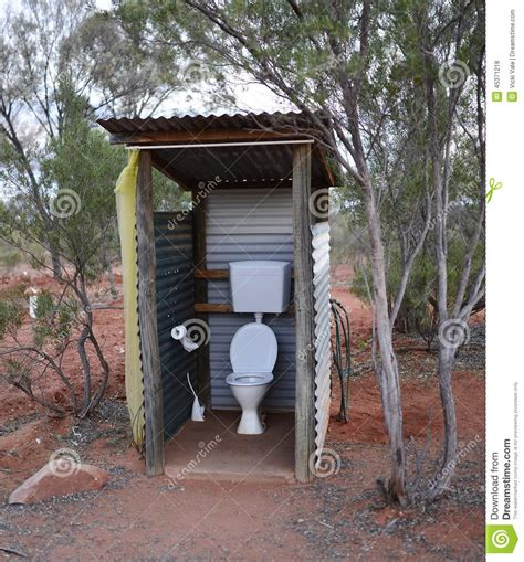 how to make an outdoor bathroom outdoor toilet in australian bush stock photo image of
